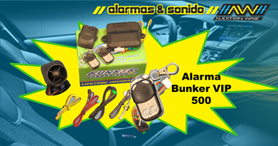 Alarma Bunker  VIP 500 Precio Especial en AW Car Audio