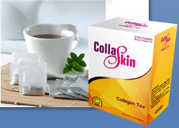 collagen tea, collagen drink, teh collagen