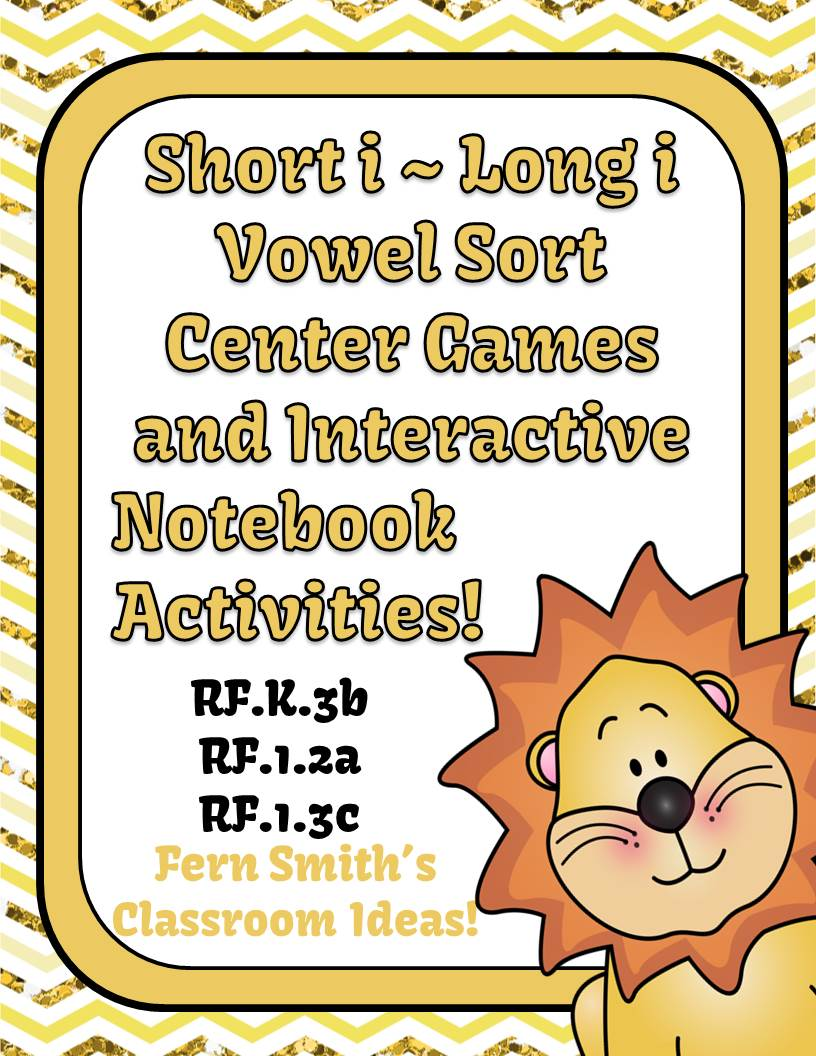 http://www.teacherspayteachers.com/Product/Vowel-Sorting-Short-i-Long-i-Center-Games-and-Interactive-Notebook-Activities-948377