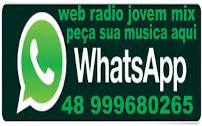peça sua musica aqui whatsapp da web radio jovem mix
