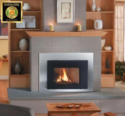 natural gas stove and woodstove at wilshire fireplace shop
