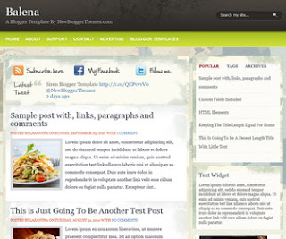 Balena-Blogger-Template