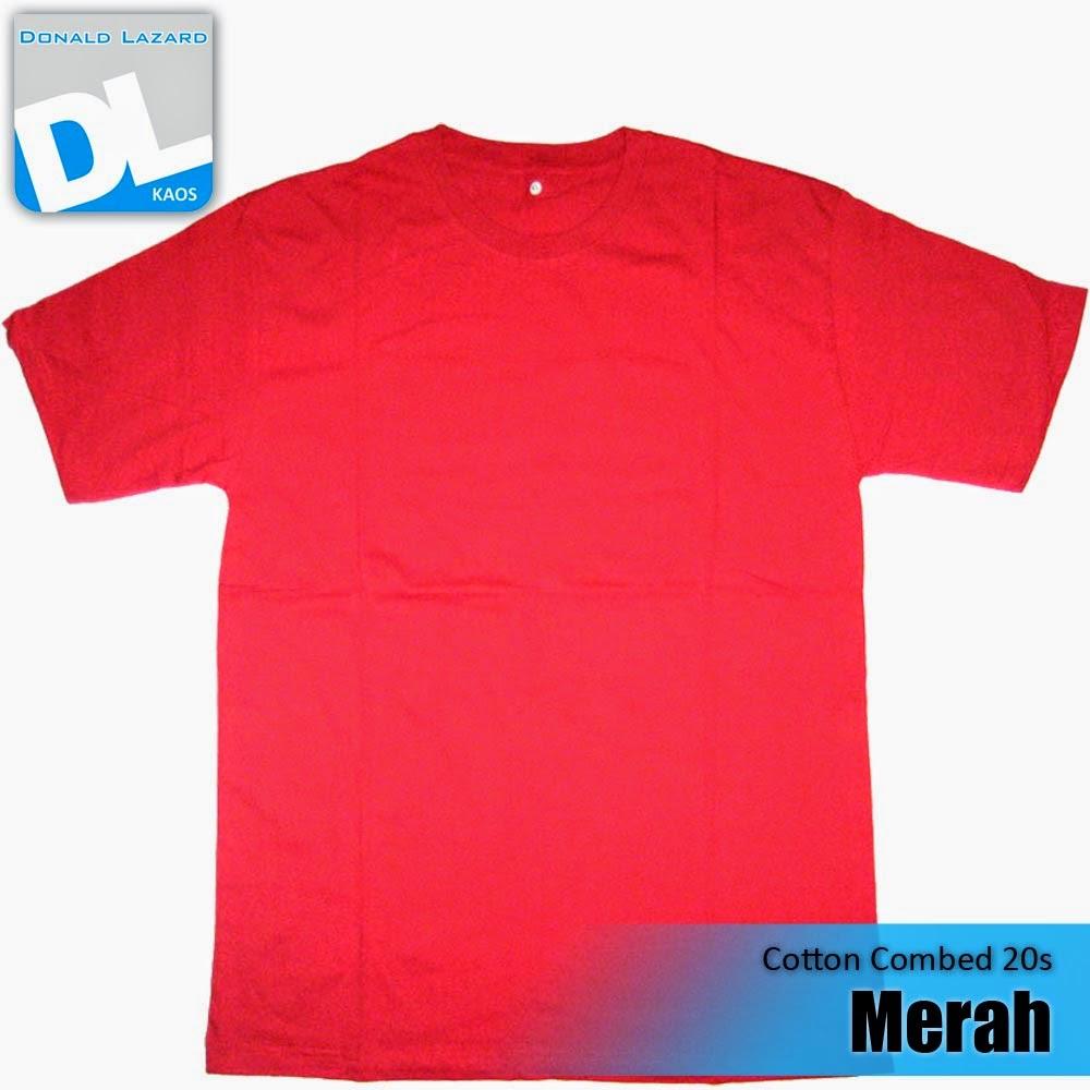 Sablon Warna Kaos Merah