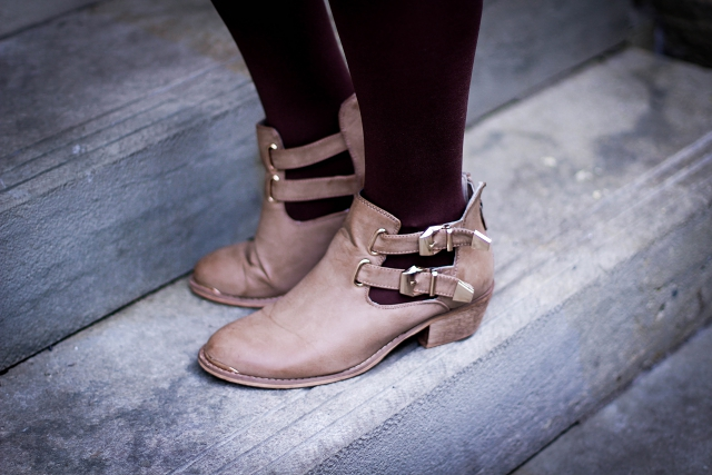 ootd beige cut out boots