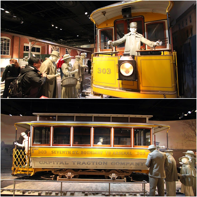 Railway Tram in the early days at National Museum of American History in Washington DC, USA
