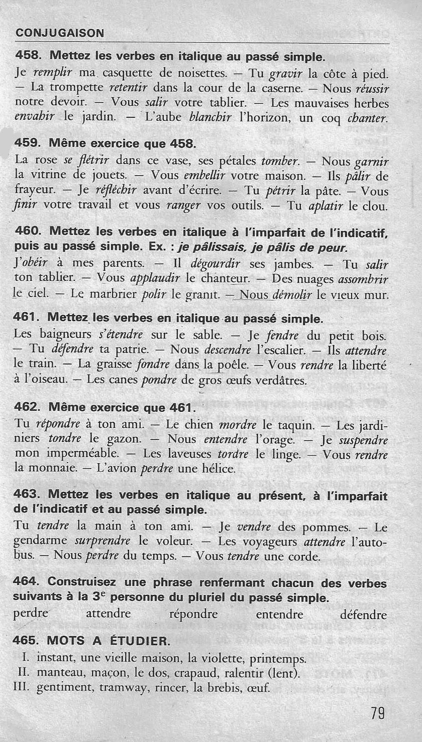 cours de conjugaison cm1 pdf