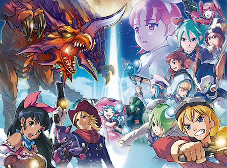 Most of the characters from Phantasy Star Zero