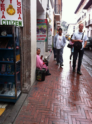 Women Selling Fruit on the Sidewalk – Quito