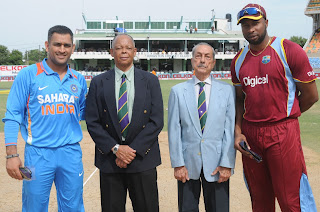 MS-Dhoni-Kieron-Pollard-West-Indies-vs-India-Tri-Series-2013