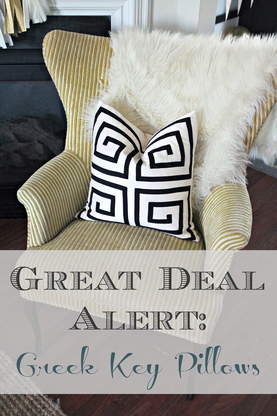 Good Greek Key Decorative Pillows Part - 10: Rugs, Throws, Drapery Panels, Etcu2026and I Managed To Snag Two Of These Throw  Pillow Covers For $8 Each!