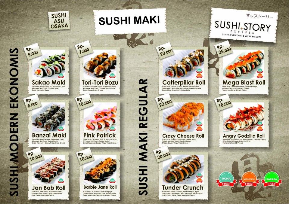 Sushi story jogja daftar menu for Modern house sushi 9 deler sett