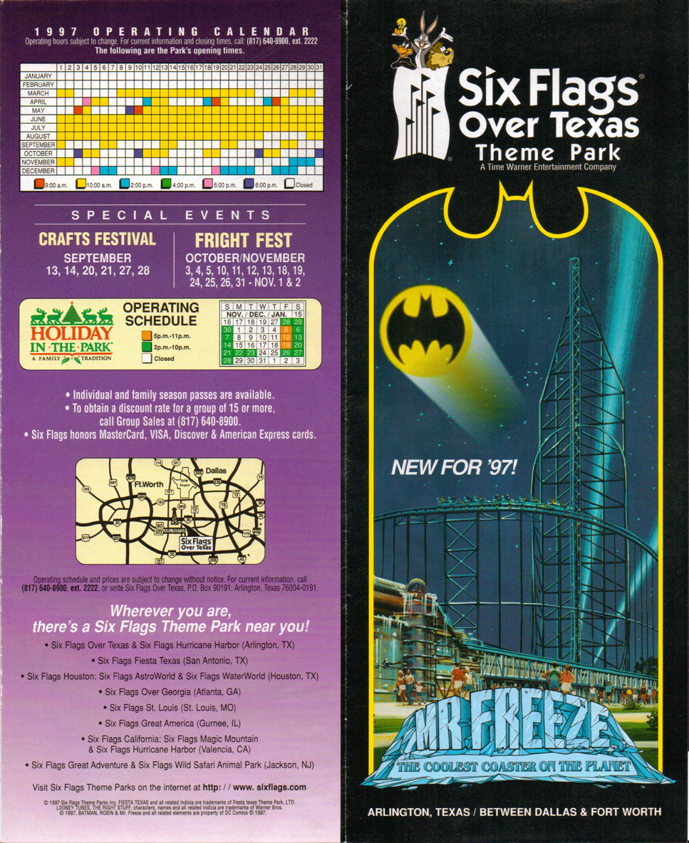 NewsPlusNotes: From The Vault: Six Flags Over Texas 1997 Brochure