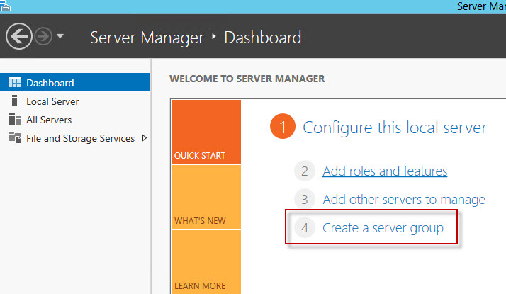 how to create a test domain on windows server 2012