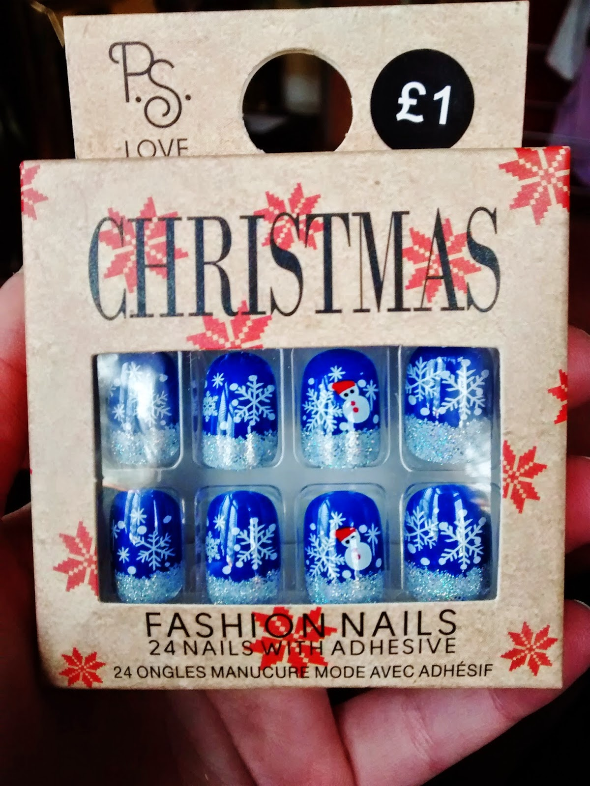 primark false nails Christmas