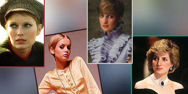 Twiggy,Mia Farrow,Marilyn Monroe,Audrey Hepburn,Lady Diana,Supermodel Vogue tahun 1990