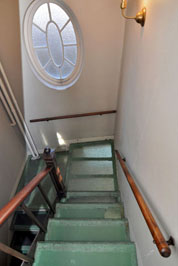 Glass Staircase Installed by Marsden Perry at Eliza Ward House