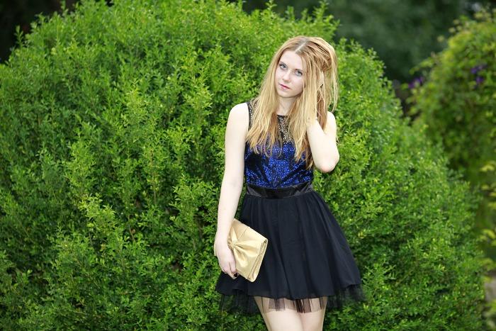 česká blogerka, šaty do tanečních, černé šaty, asos