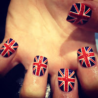 WAH nails nail art nailart nail polish Spellbound Feature Friday Week of Glitter Union Jacks British Britain