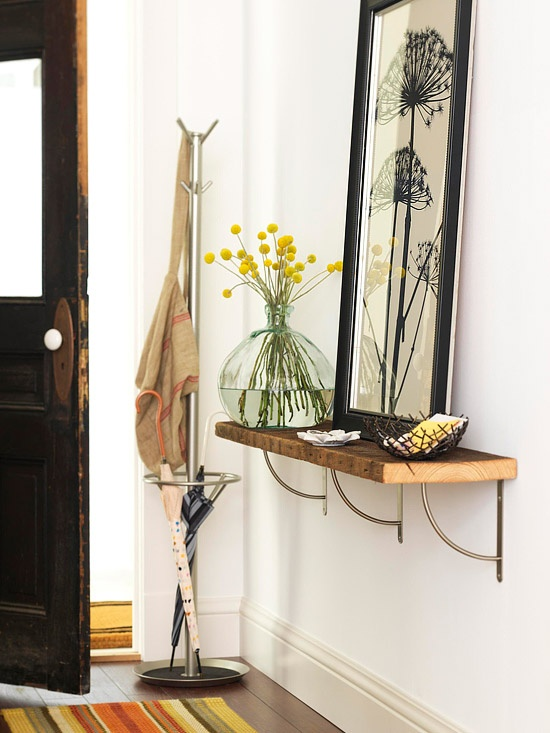 Small Entryway Shelf