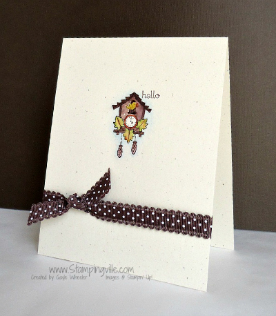 Stampin' Up! one layer card
