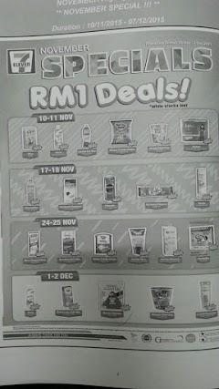 Promosi Harga RM1 Setiap Barang di 7Eleven