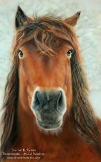 Tierportrait, Pferd nach Fotovorlage malen lassen, Pferdeportrait