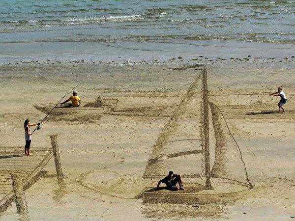 dibujos en la arena
