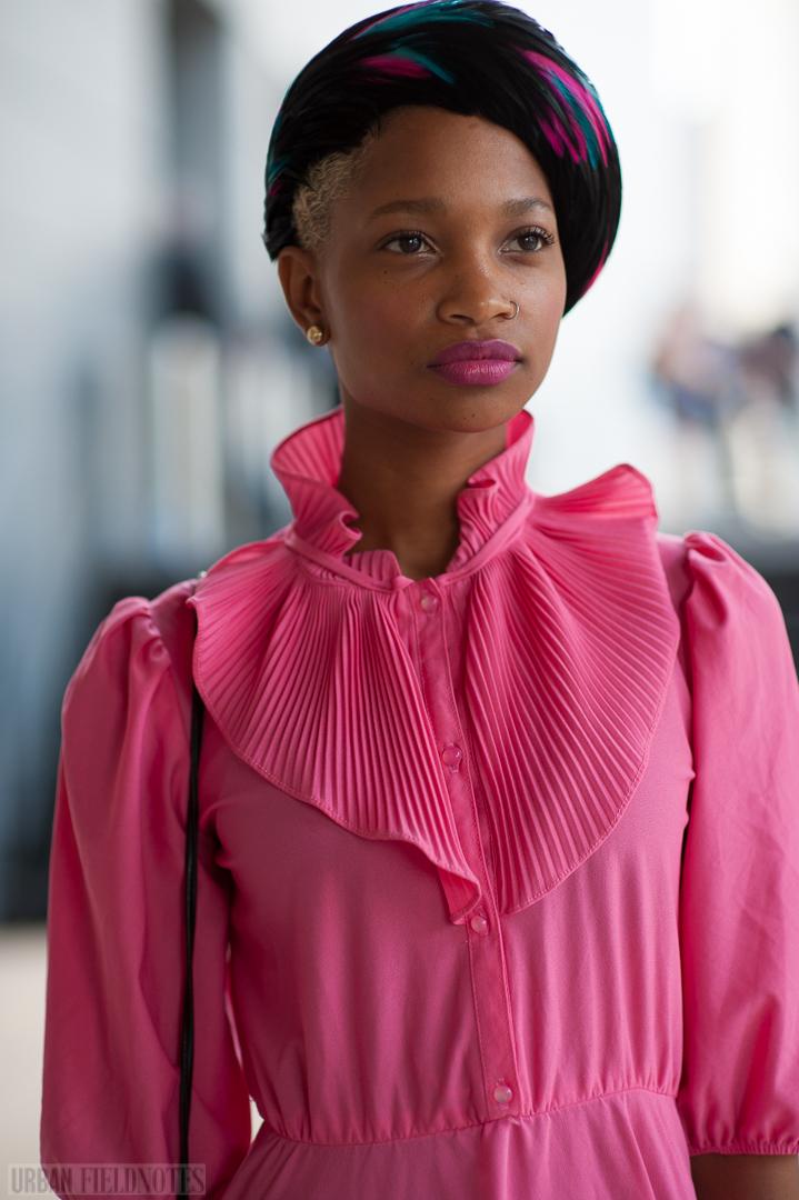 pink dress turban