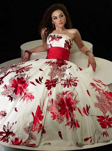 Modelos de vestidos de fiesta floreados