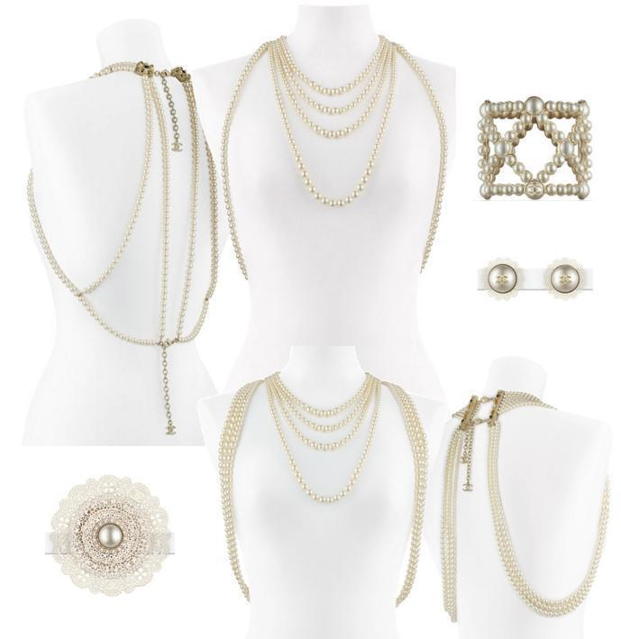 The Pearl Cuff Bracelet Is Another Clic Piece From Chanel Doily Or Lace Adorned Brooch And Earrings Are So Dainty