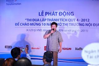 """Bị """"Quan làm báo"""" vu cho là """"đã bị bắt"""" nhưng ông Nguyễn Đăng Quang lại xuất hiện trong lễ phát động của Tập đoàn Masan."""