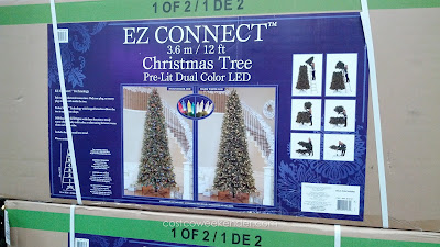 Save money and trouble with a Pre-Lit Dual Color LED Christmas Tree