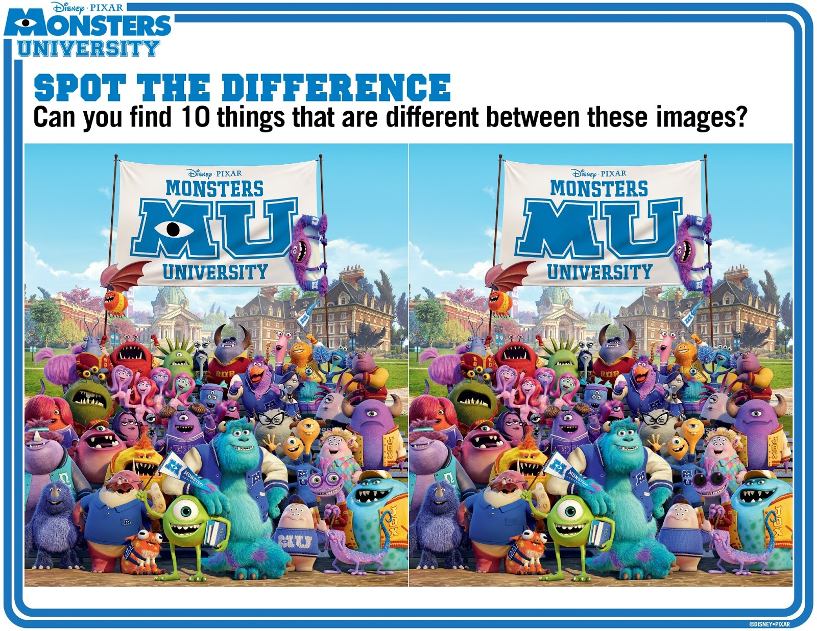 Monsters u coloring pages - Monsters University