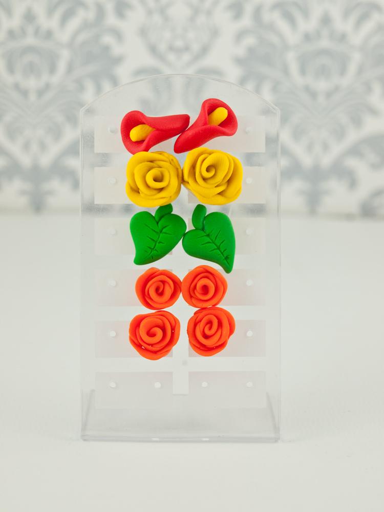 kolczyki sztyfty kwiatki