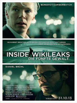 Oben: der weißhaarige Julian Assange (Benedict Cumberbatch); Unten: der bebrillte Daniel Domscheit-Berg (Daniel Brühl)