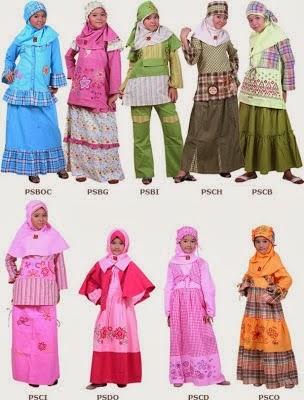 Model Busana Muslim Anak Wanita 2014