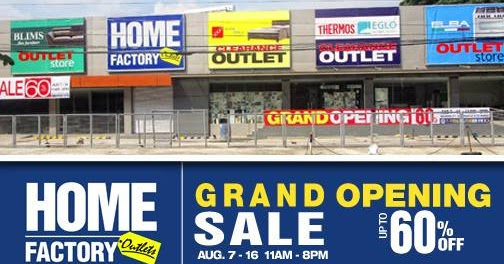Manila Shopper Home Factory Outlets Store Grand Opening Sale Aug 2015