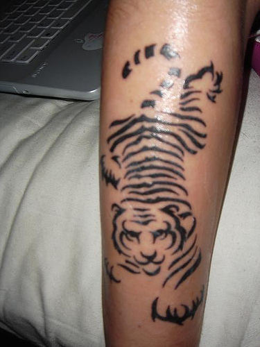 Simple Animal Tiger Tattoos