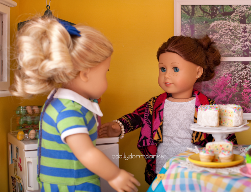 Our American Girl doll Easter celebration - Follow our 18 inch doll diaries at our American Girl Doll House. Visit our 18 inch dolls dollhouse!