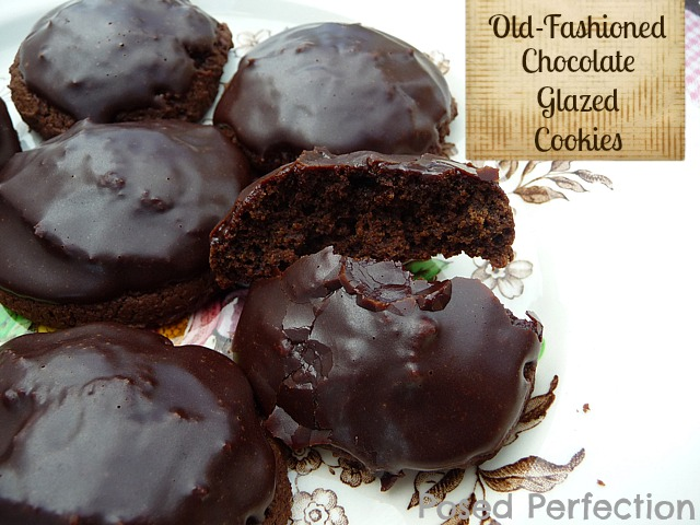 Old Fashioned Chocolate Glazed Cookies