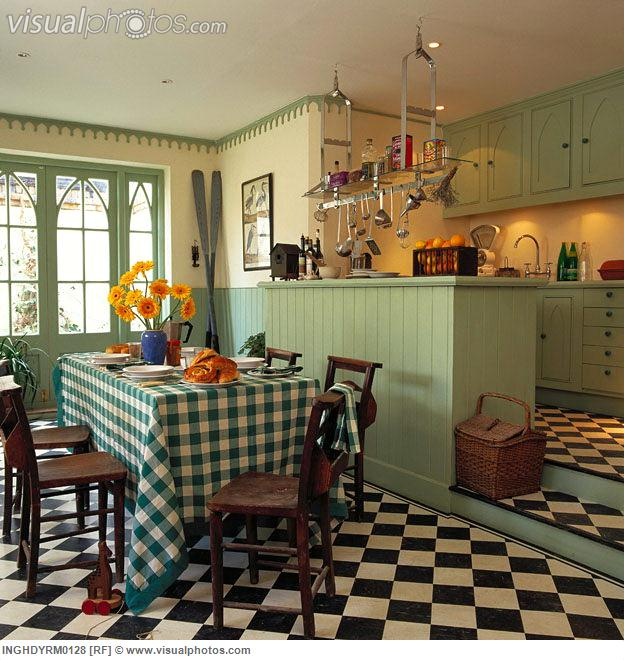 Checkered Kitchen Floor: The Country Farm Home: Is It Hopscotch? Checkerboard Floor Inspirations