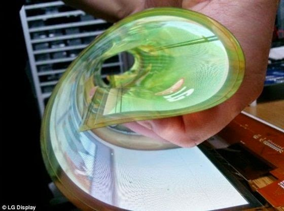 LG تطرح شاشة شفافة و قابلة للطي