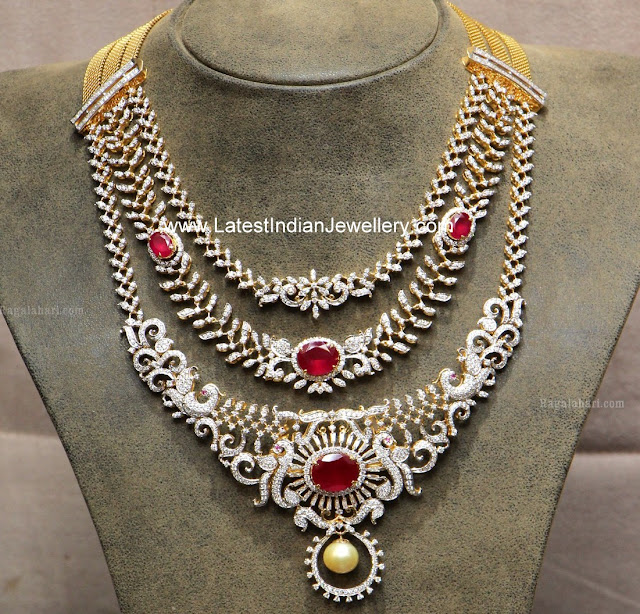 3 in 1 Detachable Diamond Necklace