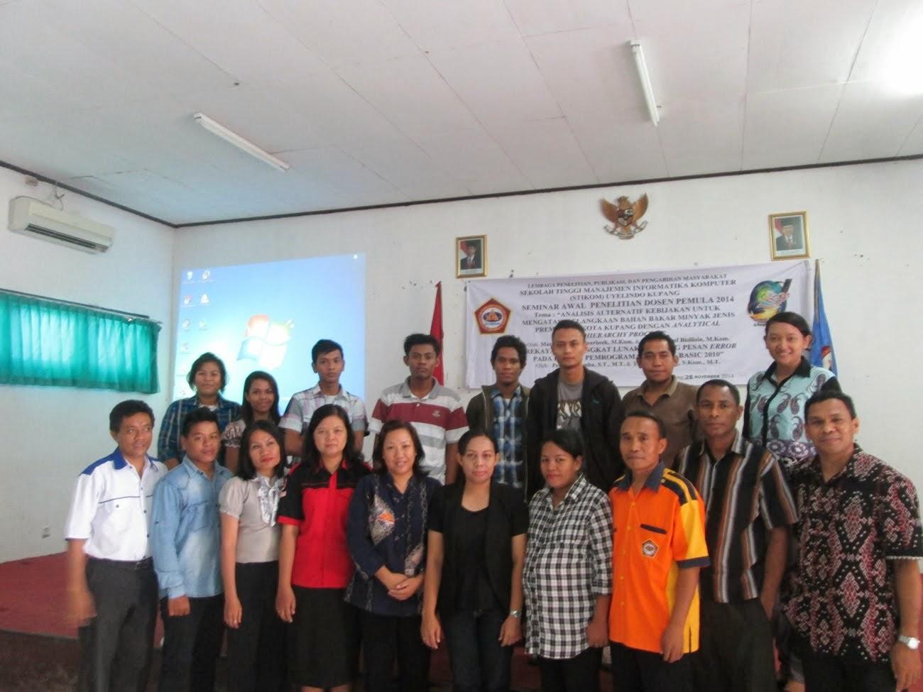 Seminar Hasil Penelitian Dosen Pemula 2014