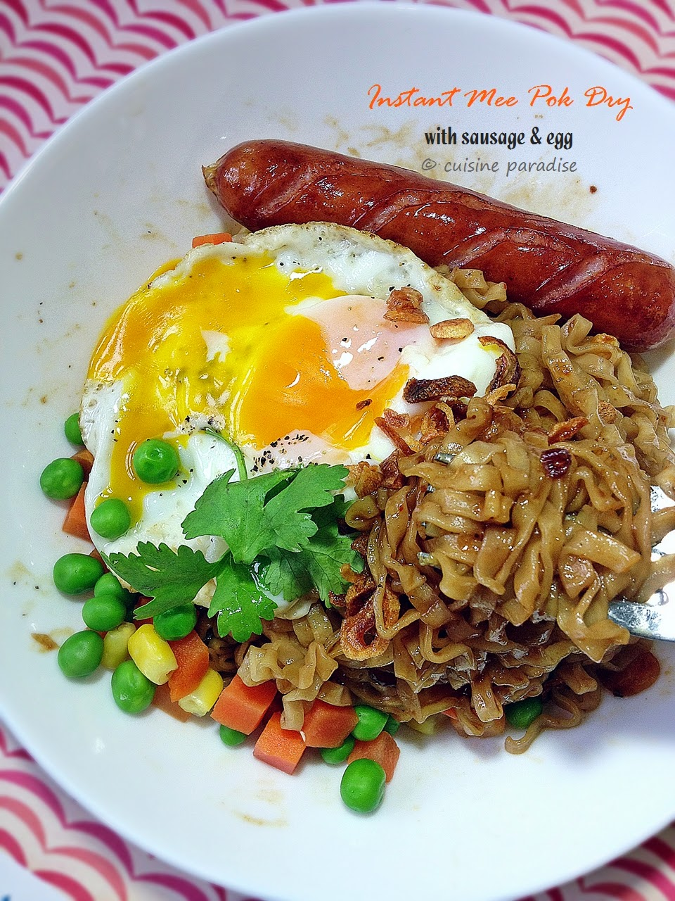how to cook egg in instant noodles