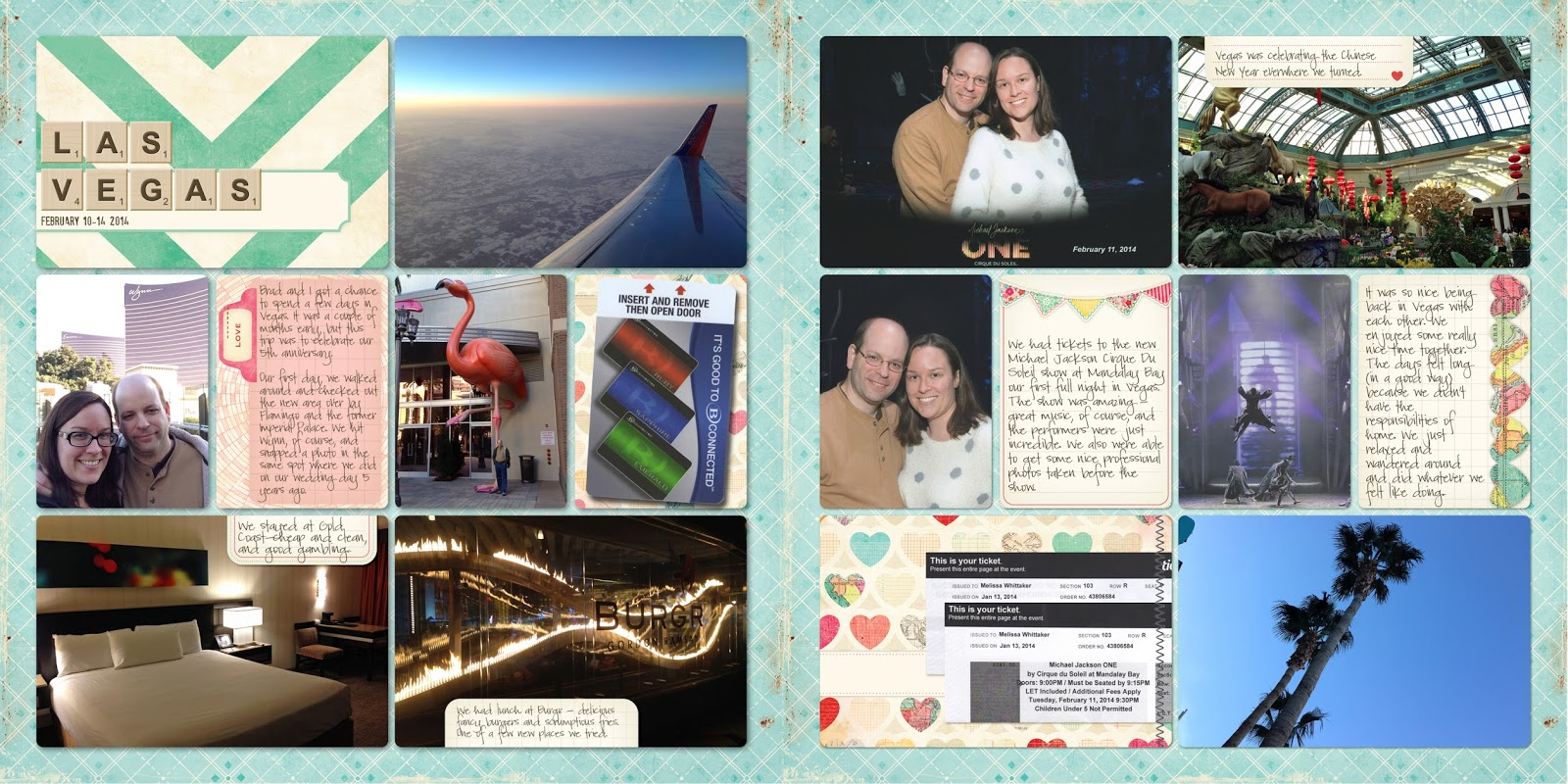Las vegas scrapbook ideas