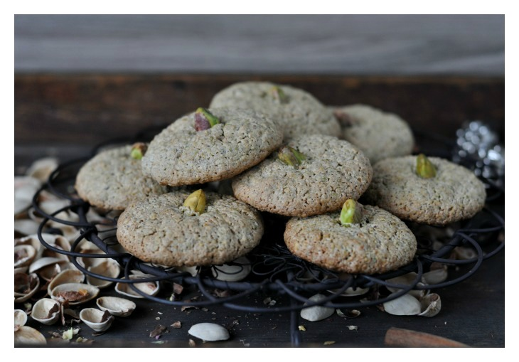 gluten free pistacio macarons, full of flavour and just delicious
