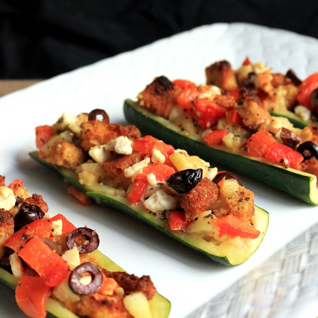 The Stay At Home Chef: Mediterranean Stuffed Zucchini Boats