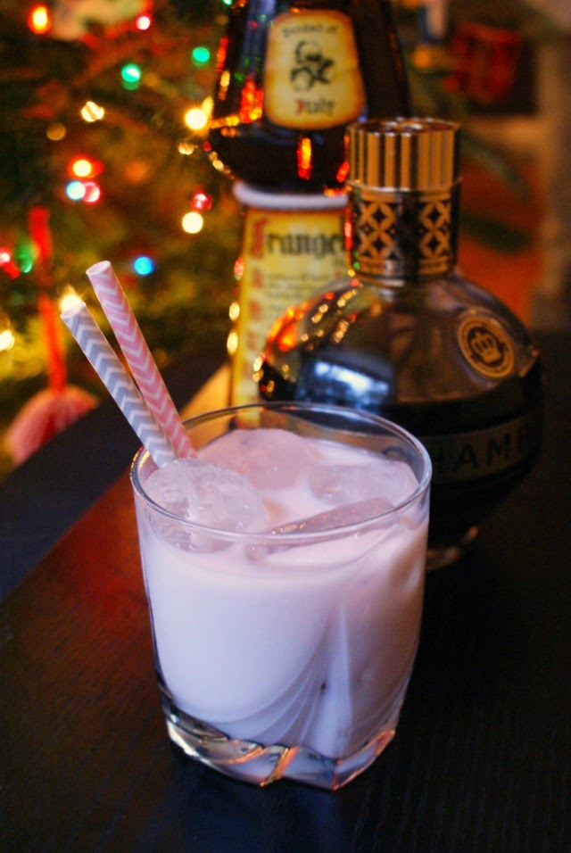 Nuts and Berries, a mixed drink that has the perfect combination of nutty and berry flavors, is made with hazlenut liqueur and raspberry liqueur topped with milk or cream.