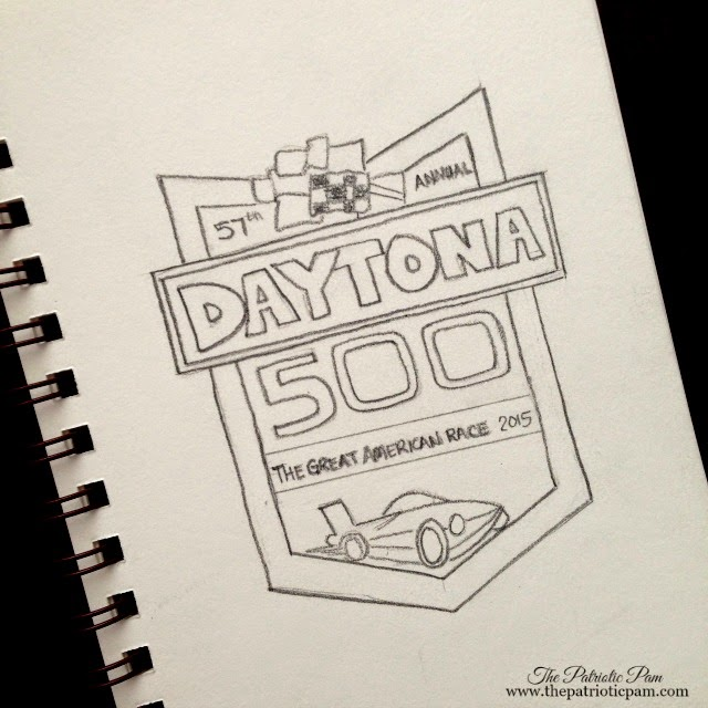 NASCAR, Daytona 500, Joey Logano wins, sketching, drawing, art